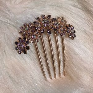 💜 Beautiful Lavender and Gold Hair Accessory 💜
